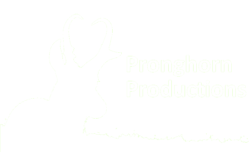 Pronghorn Productions Logo Small White